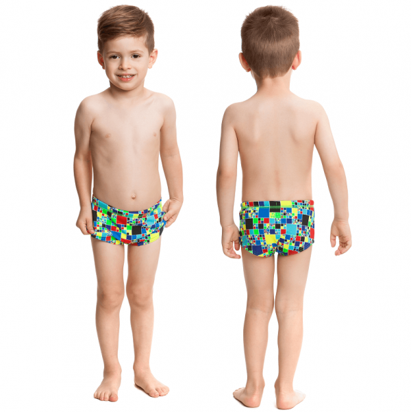 Детские плавки для бассейна Funky-Trunks-rubiks-runner-s-7