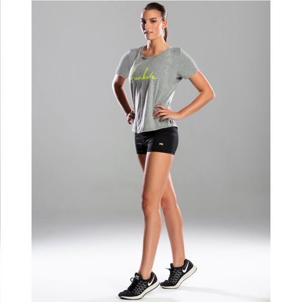 FUNKITA FIT Tina T-Shirt Grey Футболка для фитнеса