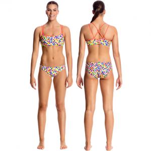 FUNKITA Hex On Legs Criss Cross Sports Купальник спортивный раздельный для бассейна