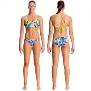 FUNKITA Madam Monet Tie Down Купальник пляжный раздельный для бассейна
