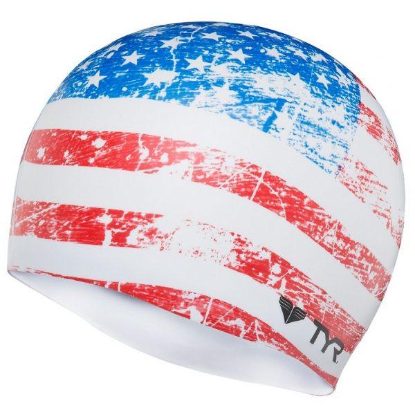 TYR Old Glory Flag Cap Шапочка для плавания
