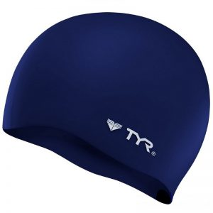 TYR Wrinkle Free Blue Swimming Cap