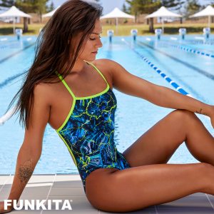 FUNKITA MIDNIGHT MARBLE STRAPPED Купальник для бассейна