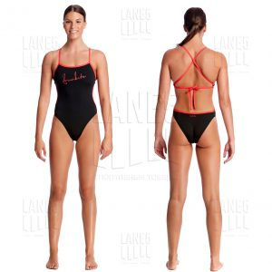 FUNKITA BLACK CHERRY MESH UP Купальник для бассейна