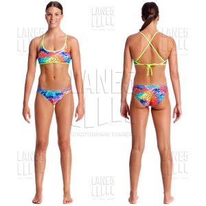 FUNKITA Layer Cake Tie Bikini Купальник для бассейна