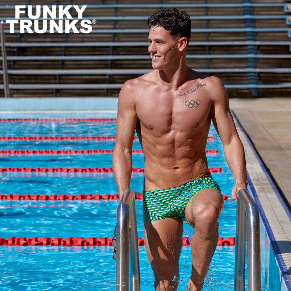 FUNKY TRUNKS GREEN GATOR Плавки для бассейна