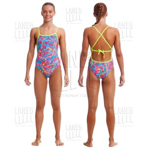 FUNKITA Squeaky Squid Tie Me Tight Eco Купальник детский