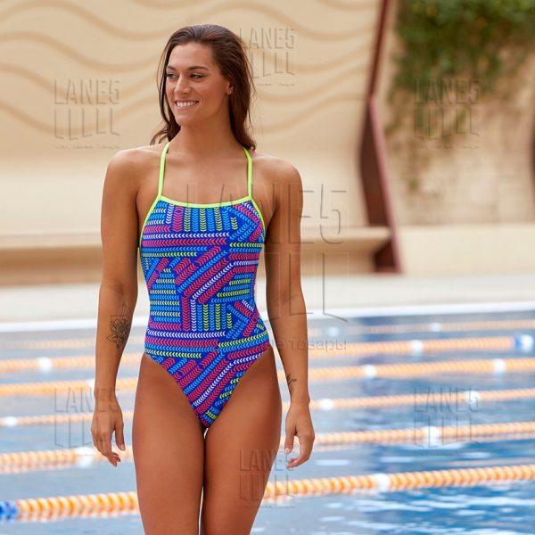 FUNKITA Chain Reaction Strapped Купальник для бассейна