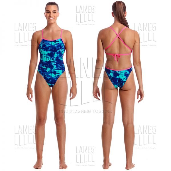 FUNKITA Hawaiian Skies Cut Away Купальник для бассейна