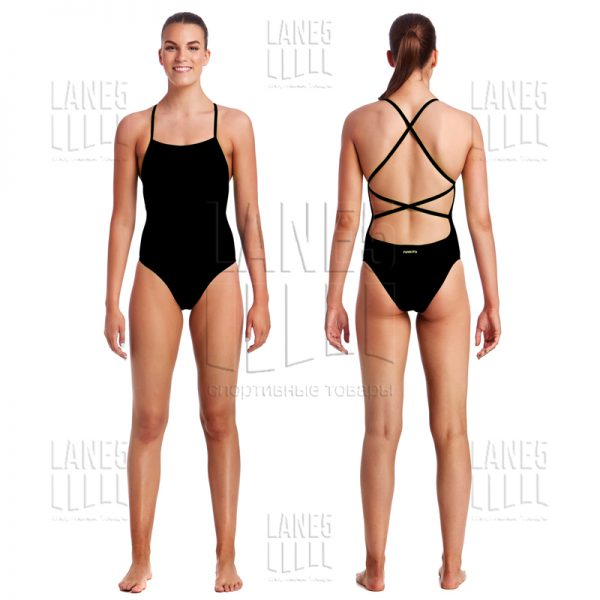 FUNKITA Still Black Strapped Купальник для бассейна