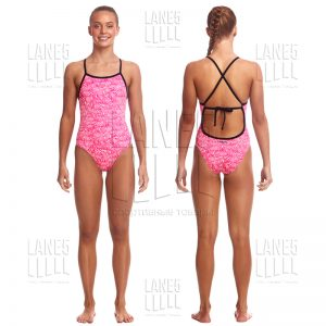 FUNKITA Painted Pink Tie Me Tight Eco Купальник детский