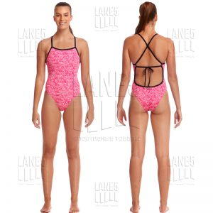 FUNKITA Painted Pink Tie Me Tight Купальник для бассейна