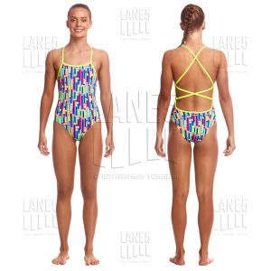 FUNKITA Mixed Signals Strapped Купальник для бассейна