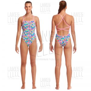 FUNKITA Patched Up Strapped Купальник для бассейна