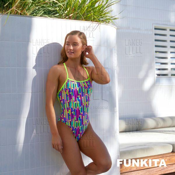 FUNKITA Mixed Signals Strapped Купальник для бассейна