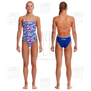 FUNKITA Ice Cream Queen Strapped Купальник для бассейна