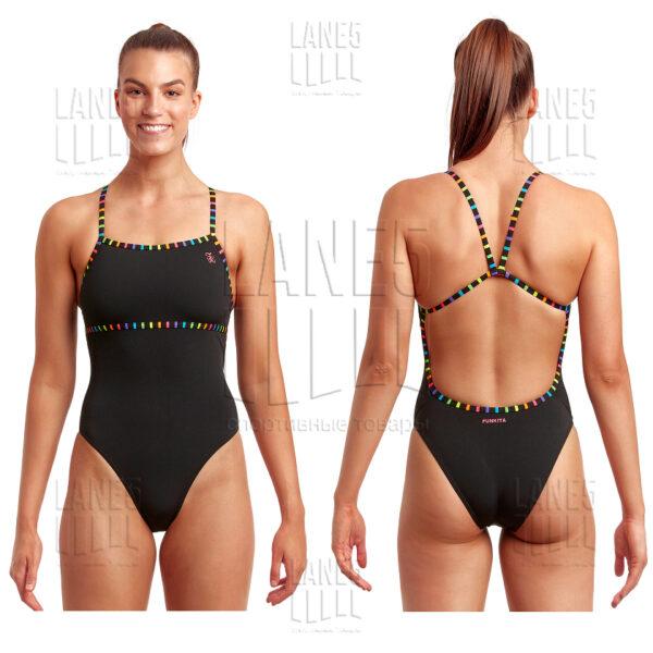 FUNKITA Black Stripes Купальник для бассейна