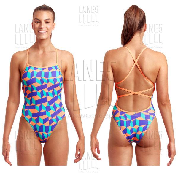 FUNKITA Stacked Candy Strapped Купальник для бассейна